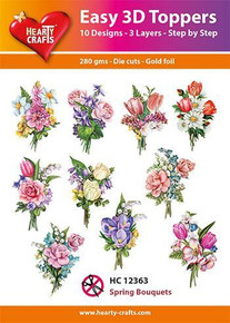 Hearty Crafts Easy 3D Toppers Spring Bouquets HC12363