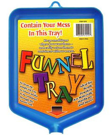 Funnel Tray - Pour Back excesss pwders, glitter, Microbeads, More!