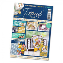 Tattered Lace Magazine Issue 87 Cute Bee with Honeycomb Embossing Folder