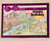 Live Stream Stamping Class - Wilderness Scenery Stamping 2 -- Create a Scape WIlderness