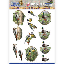 D Push Out - Amy Design – Forest Animals - Woodpecker