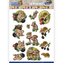 3D Push Out - Amy Design – Forest Animals - Mouse