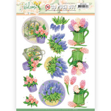 3D Push Out - Jeanine's Art – Welcome Spring - Hyacinth SB10529