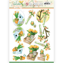 3D Push Out - Jeanine's Art – Welcome Spring - Orange Tulips SB10528