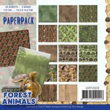 Amy Design PAPR PACK6X6, Forest Animals, Double-Sided