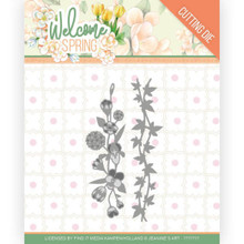 Find It Trading Jeanine's Art – Welcome Spring - Flowers and Leaf Borders Cutting Dies