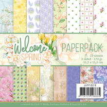 "Find It Trading Jeanine's Art- WELCOME SPRING 6""x6"" Paperpack JAPP10018"