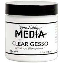 Dina Wakley Media Gesso 4oz Jar -- Clear