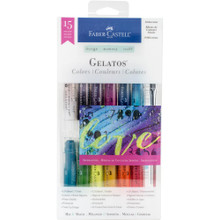 Gelatos -- Iridescent 1 - 15 Pieces - 12 color sticks and 3 tools