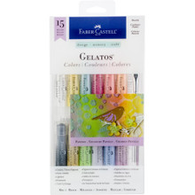 Gelatos -- Pastels - 15 Pieces - 12 color sticks and 3 tools