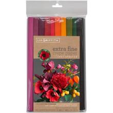 Extra Fine Crepe Paper 10/Pkg by Lia Griffit - WEnchanted Garden 10 Colors