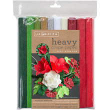 Heavy Crepe Paper 10/Pkg by Lia Griffith - Winter Garden 10 Colors