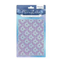 Hunkydory Moonstone Embossing Folder- Scattered Blooms Floral Criss Cross MSTONE714