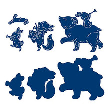 Tattered Lace Pinewood Party - Animal Parade Cutting Die Set 565816