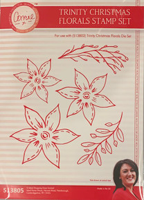 Corrine's Signature Trinity Christmas - Floral Stamp Set 513805