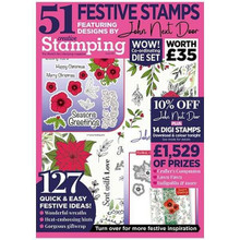 Creative Stamping Magazine Issue 88 - 51-piece John Next Door Floral Christmas A4 Stamp Set