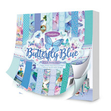 Hunkydory Crafts Butterfly Blues 8X8 Paper Pad