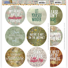 Amy Design Text Designs- Forest Animals- 12 Circular Push Out Text Designs- ADTD1008