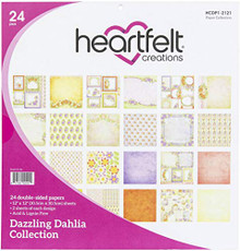 "Heartfelt Creations Double-Sided Paper Pad 12""X12"" 24/Pkg-Dazzling Dahlia"