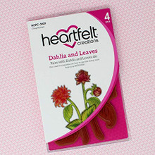Heartfelt Creations- Dahlia and Leaves Cling Stamp Set
