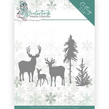 Yvonne Creations Wintertime- Deers in The Forest Cutting Die YCD10217