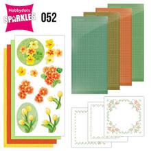 Find it Trading Hobbydots Sparkles Orange Flowers Kit SPDO052