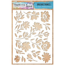 TEXT{URES} A5 STENCIL ART STYLE FLOWERS - BRUSHSTROKES COLLECTION