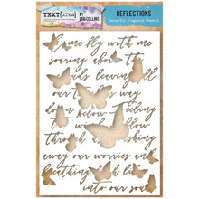 TEXT{URES} A5 STENCIL Reflections Butterfly Fragments Stencil