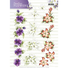 Precious Marieke Timeless Flowers - 3D CUT OUT Toppers (Pack of 10)
