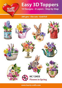 Hearty Crafts Easy 3D Toppers Flowers in Spring HC12453