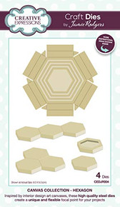 Creative Expressions- Jamie Rodgers Canvas Collection Hexagon