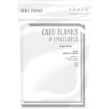 Craft Perfect Cards & Envelopes - US A2 - Bright White 9253e - 300gsm