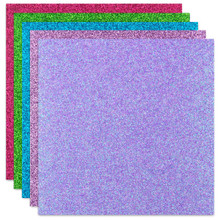 """ETC Papers Non-shed Glitter 12""""x12"""" Cardstock- Summer"""
