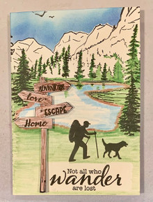 Live Stream Class -- Creative Stamping #82 Great Outdoors -- A4 Stamp set with Five Card - Kit