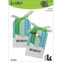 I-Crafter Dies- Zip Gift Tag