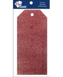 Paper Accents Craft Tags Assorted Sizes- Glitz Crimson