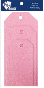 Paper Accents Craft Tags Assorted Sizes- Petal Pink
