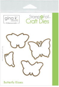Gina K. Designs Stamp n Foil Craft Dies- Butterfly Kisses