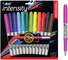 Bic Intensity- Permanent Marker- 12 Fine Point Pens