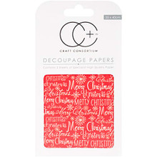 "Craft Consortium Merry Christmas Decoupage Papers (3/Pack), 13.75"" x 15.75"""