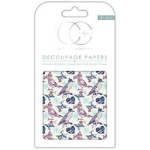 "Craft Consortium Christmas Thrush Decoupage Papers (3/Pack), 13.75"" x 15.75"""