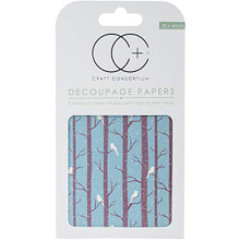 "Craft Consortium Winter Woodland Decoupage Papers (3/Pack), 13.75"" x 15.75"""