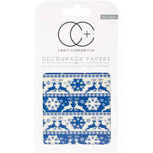 "Craft Consortium Nordic Stripe Decoupage Papers (3/Pack), 13.75"" x 15.75"""