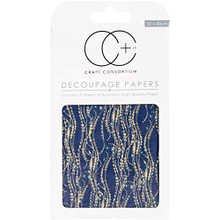 "Craft Consortium Blue Decal Decoupage Papers (3/Pack), 13.75"" x 15.75"""
