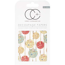 "Craft Consortium White Baubles Decoupage Papers (3/Pack), 13.75"" x 15.75"""