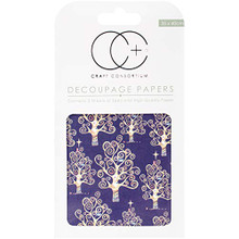 """Craft Consortium Blue Trees Decoupage Papers (3/Pack), 13.75"""" x 15.75"""""""