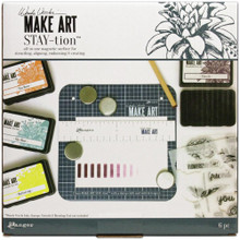 Wendy Vecchi Make Art Stay-tion 7x7 Magnetic Crafting Surface & Magnets