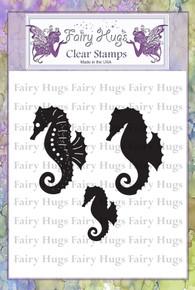 Fairy Hugs Stamp - Seahorses