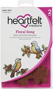 HEARTFELT CREATIONS Cling RUBBR STMP Set FLORL, Floral Song, Cascading Petals