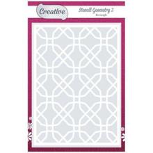 "Creative Designs 5x7"" Stencil Geometry3 Rectangle"